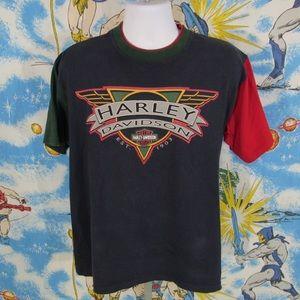 Harley Davidson MULTICOLORED layered shirt L